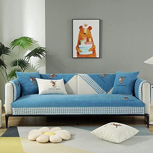Fsogasilttlv Protector de sofá para sofá de 3 Cojines...