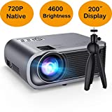 VicTsing 4600Lux Video Projector, Support HD 1080P, Native 720P Mini WIFI Projector, Compatible