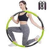 FCREW Hula Hoop - Hula Hoop per adulti e bambini, regolabile in 8 sezioni, larghezza 48 - 95 cm, peso 1,2 kg, pneumatici Hula Hoop per fitness, addominali, sport, riduzione del peso