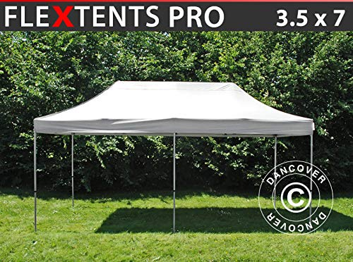 Dancover Pop up gazebo FleXtents Pop up canopy Folding tent PRO 3.5x7 m White