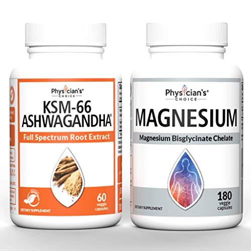 KSM-66 Ashwagandha Root Powder Extract + Magnesium Glycinate