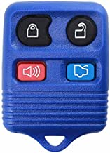 KeylessOption Blue Replacement 4 Button Keyless Entry Remote Control Key Fob Clicker