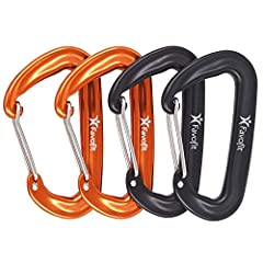 ✅Multi-purpose: These wiregate carabiners are great for many activities like camping, hiking, backpacking,or simply as keychain carabiners or dog leash and harness carabiners, excluding climbing and alike ✅Heavy Duty: Rated at 12KN, each nonlocking r...
