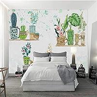 写真の壁紙3D立体空間カスタム大規模な壁紙の壁紙 ノルディック盆栽リビングルーム現代リビングルームのテレビの背景寝室家の装飾壁画 -450X300cm(177 * 118インチ)