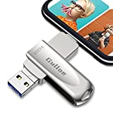 Gulloe USB 3.0 Flash Drive 512GB Intended for iPhone, USB Memory Stick External Storage Thumb Drive Photo Stick Compatible with iPhone, Android, Computer (Silver)