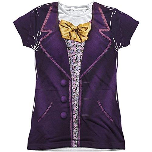 Willy Wonka and The Chocolate Factory - Disfraz de Wonka, talla S, color blanco - Blanco - Small