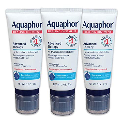 Aquaphor Healing Ointment With Touch-Free Applicator For Dry Chapped Skin, Use After Hand Washing for Dry Hands - 3 oz,- Pack of 3