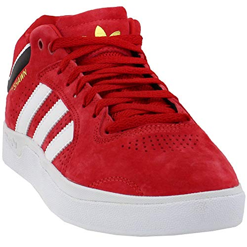 adidas Mens Tyshawn Casual Sneakers, Red, 6