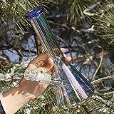 The7boX Colorido Bong 14,5 mm vaso de vaso de vidrio Bongs 10 pulgadas simples tubos de agua para fumar