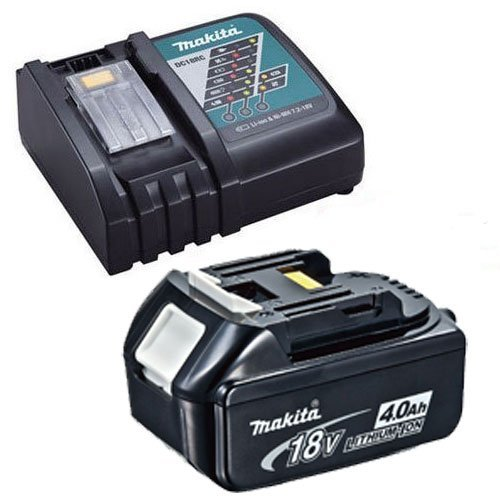 Photo of Makita BL1840DC18RC 18 V DC18RC Li-Ion Charger and 4 A BL1840 Battery – Blue