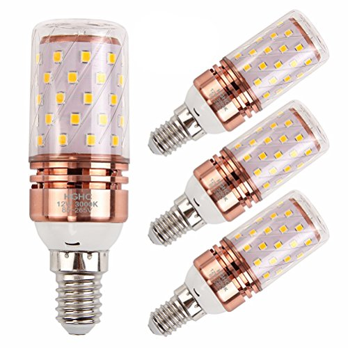 Preisvergleich Produktbild LED E14 Lampe Birne 12W Warmwei 3000K 1200LM Ersatz fr 100W Halogenlampen,  Kleine Edison-Schraube Kerze Leuchtmittel (4er-Pack)