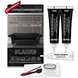 Black Leather and Vinyl Repair Kit | Leather Repair Kits for Couches - Furniture, Car Seats, Sofa, Jacket, Purse. Scratches, Tears & Burn Holes on Genuine, Italian, Bonded, Bycast, PU, Pleather