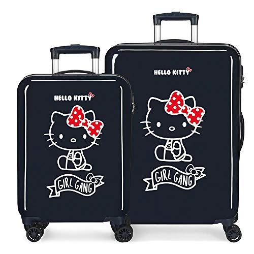 Hello Kitty Girl Gang Hello Kitty Set Valigie per Bambini, 55-68 cm, Blu