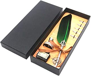 1pc pluma de la vendimia Conjunto de lápiz Pluma de la caligrafía pluma de inmersión papel pluma pluma para escribir, verde