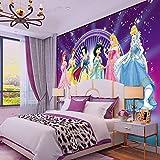 XCHBH Papier Peint Auto-Adhésif Papier Peint Mural (W) 200X (H) 150Cm3D Affiche Murale Fille Rose...