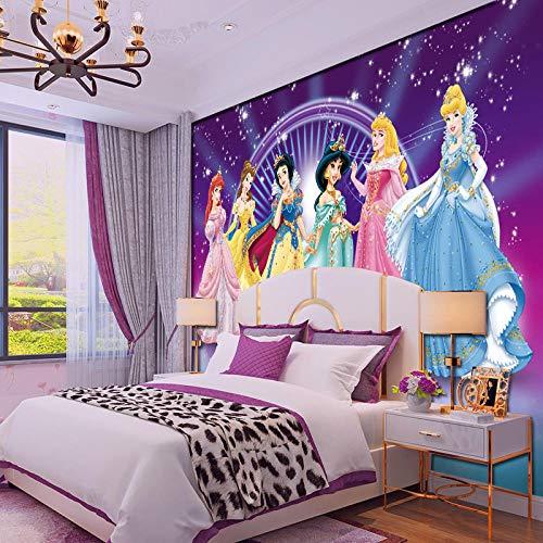 MGQSS 3D Wandbild selbstklebende Tapete Puder Grün Mädchen Herz Vergnügungspark niedliche Prinzessin 3D Kinderzimmer Tapete Poster Fototapete Junge Mädchen Schlafzimmer Raumdekorati(B)200x(H)150 cm