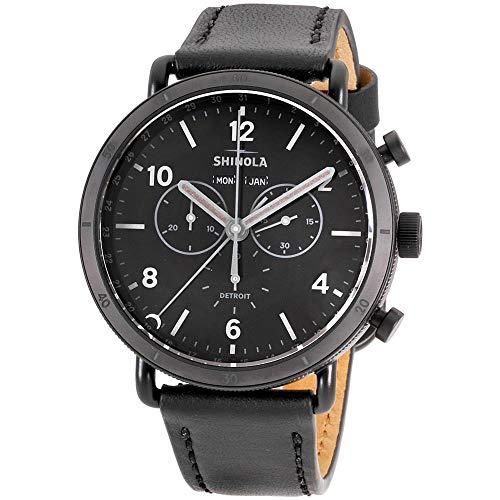 Shinola The Canfield Quartz Movement Black Dial Men's Watch S0120121828