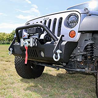 Tuff Stuff Overland Stubby Front Winch Bumper for 07-18 Jeep Wrangler JK, Matte, TS-FB-JK-STB