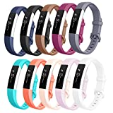 AK Replacement Bands Compatible with Fitbit Alta Bands/Fitbit Alta HR Bands (10 Pack), Replacement Bands for Fitbit Alta/Alta HR (10 pcs-b,Small)