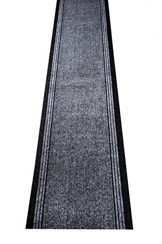 havatex Schmutzfang Läufer Kongo - und schadstoffgeprüft | pflegeleicht schmutzresistent robust und strapazierfähig | Flur Diele Eingang Küche Küchenteppich, Farbe:Grau, Größe:80 x 200 cm