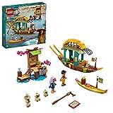 LEGO 43185 Disney Princess Bouns Boot Spielzeug mit 2 Mini Puppen aus dem Film Raya und der letzte Drache, Kinderspielzeug ab 6 Jahren