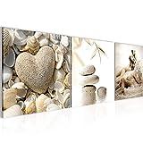 Bilder Strand Steine 3 Teilig Bild auf Vlies Leinwand Deko