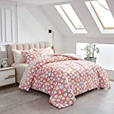 Kids Bed in a Bag Colorful Hearts Twin 6 Pieces -(1 Soft Microfiber, Reversible Comforter, 2 Pillow Shams, 1 Flat Sheet, 1 Fitted Sheet, 1 Pillowcases)