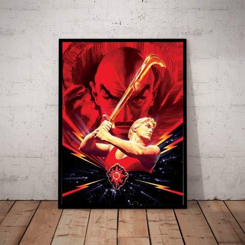 Quadro Flash Gordon Arte De Alex Ross Poster Moldurado