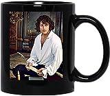 Jamie Fraser Outlander Jammf Dragonfly In Amber Books Tv Series Taza de café divertida para mujeres y hombres Tazas de té Taza con asa, Taza de café reutilizable de cerámica aislada, Taza de viaje de