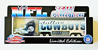 Dallas Cowboys 1999 NFL White Rose Diecast Kenworth Tractor Trailer 1/87 Scale Truck Collectible Team Car Football