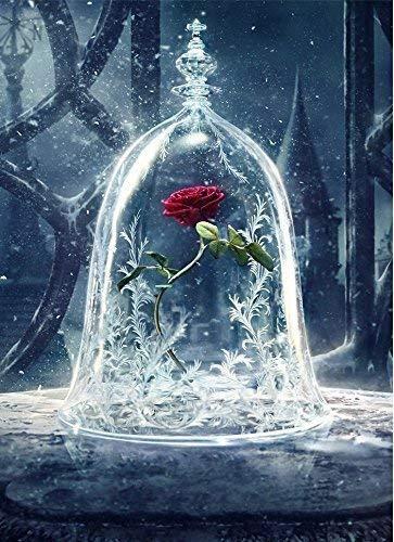 Andbby DIY 5D Diamant Painting Crystal Strass Stickerei Bilder Kunst Handwerk für Home Wall Decor MEHRWEG (Rose Vase)