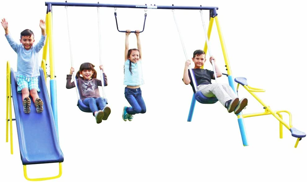 Sportspower Super Dallas Mall service First Metal Swing Slide Set and