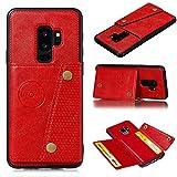 Jielangxin Funda para Samsung Galaxy S9+,con Ranura para Tarjeta Funda para Samsung SM-G965F/DS Galaxy S9+ / SM-G965U1 SM-G9650/DS SM-G965J SM-G965N SM-G965D SM-G965F SM-G965U Funda Carcasa Case Red