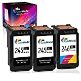 ColoWorld Remanufactured Ink Cartridge Replacement for Canon 245XL PG-245XL PG-243 CL-244 CL-246XL (2 Black,1 Color) Used for Pixma TS3122 MX490 MX492 TR4522 TR4520 MG2522 MG2922 MG2520 TS3322 Printer