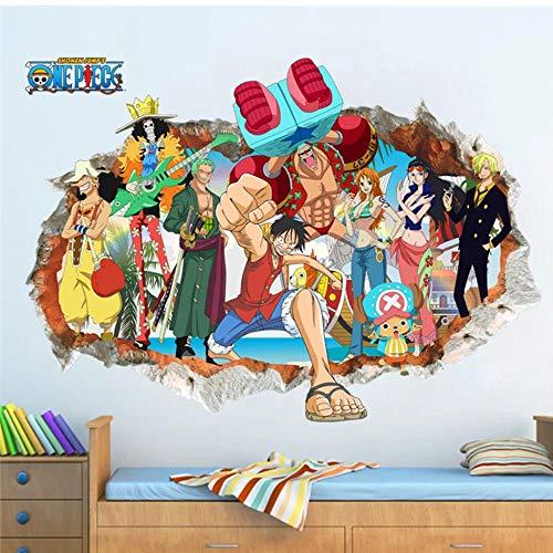 3d Cartoon Wandtattoos für Kinderzimmer Schlafzimmer Wohnkultur Kunst Cartoon kaputte Wandaufkleber 50 * 70cm