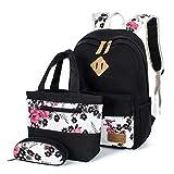 Leaper Floral Backpacks for Teen Girls Teen Backpacks School Bags Bookbags Set 3