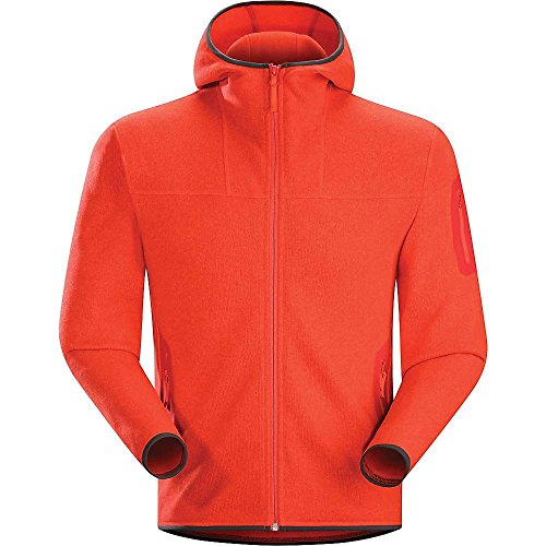 Acteryx, Giacca in Pile Uomo Covert, Rosso (Magma), M