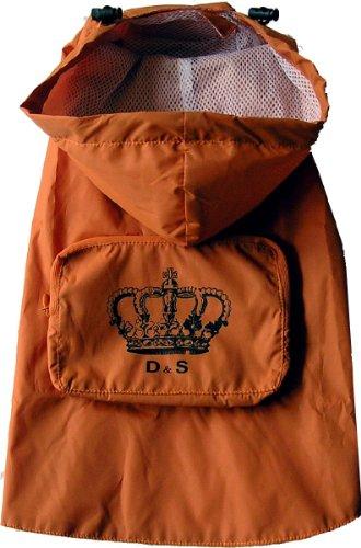 Dogs Stars Regencape mit Krone - orange - praktischer Klettverschluß - wasserabweisend