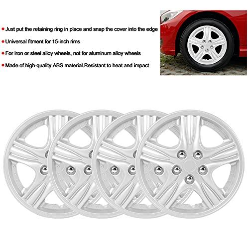 Socobeta 4 unids/set cubiertas de rueda a presión para decoración de rueda para reemplazo de piezas de automóvil (tipo B)