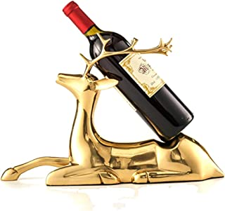 Exquisite Deer Wine Holder, Shape Life-like Statue Rack Made of Brass Golden is a Noble Symbol, Suitable for Cellar Living...