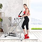 Airpow Air Walk Trainer Foldable Elliptical Exercise Machine Fitness Home Gym Workout Air Walkers Glider - Health & Fitness Air Walk Trainer Elliptical Training Machine Glider (US Stock)