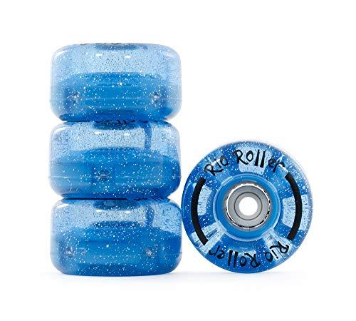 Rio Roller Light Up Rollen, Unisex Erwachsene S Blau (Glitter)