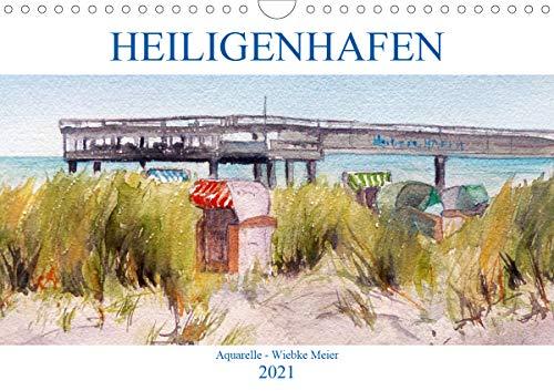Heiligenhafen in Aquarell (Wandkalender 2021 DIN A4 quer)