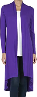 SHOP DORDOR Women's Long Sleeve Duster High Low Hem Long Open Front Drape Maxi Cardigan