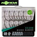 Korda Kamakura Krank Karpfenhaken - 10 Angelhaken zum Karpfenangeln, Einzelhaken zum Angeln auf...
