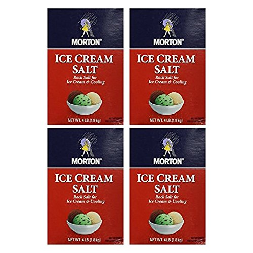 Morton Ice Cream Salt 4lb box (Pack of 4)