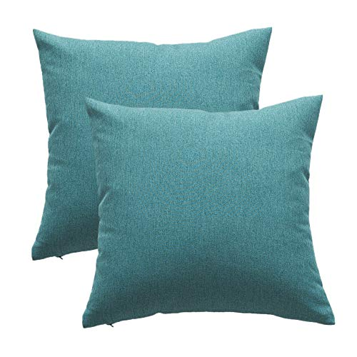 Shamrockers Waterproof Throw Pillow Covers Outdoor Garden Cushion Case Patio Sofa Pillowcases for Bedroom Living Room and Tent Park Chair Solid Home Decorative Pack of 2