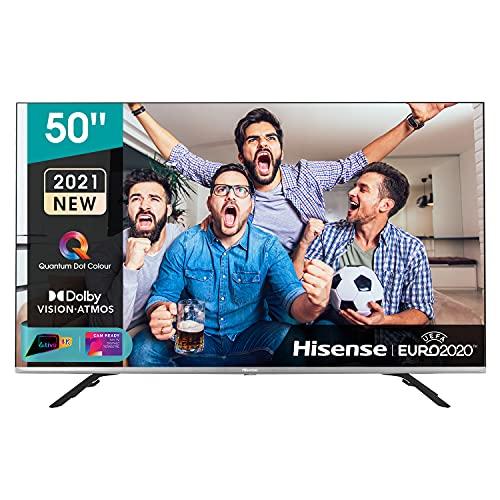 Hisense 50' QLED 4K 2021 50E78GQ, Quantum Dot, Smart TV VIDAA 5.0, HDR Dolby Vision, Audio Dolby Atmos, Controlli vocali Alexa / Google Assistant, Tuner DVB-T2/S2 HEVC 10, lativù 4K