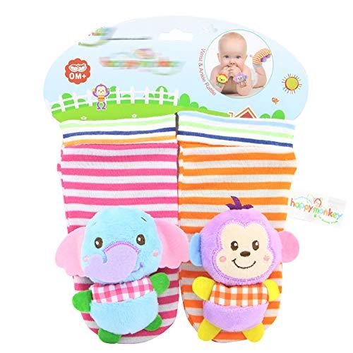 mxdmai 1 Paar Baby Socken Rassel Warme Dicke Winter Socken mit Glocken Kinder Spielzeug für 0-3 Monate Babys