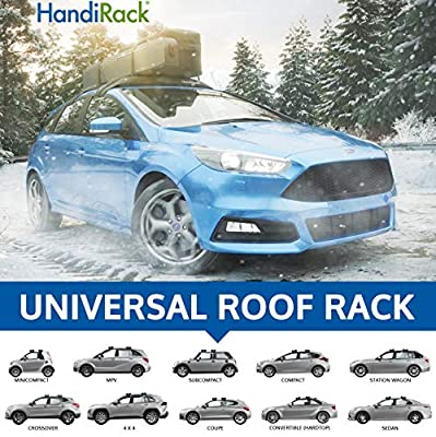 HandiRack - Universal Inflatable roof rack bars (Black) - Rooftop cargo carrier - Fits most cars and SUVS